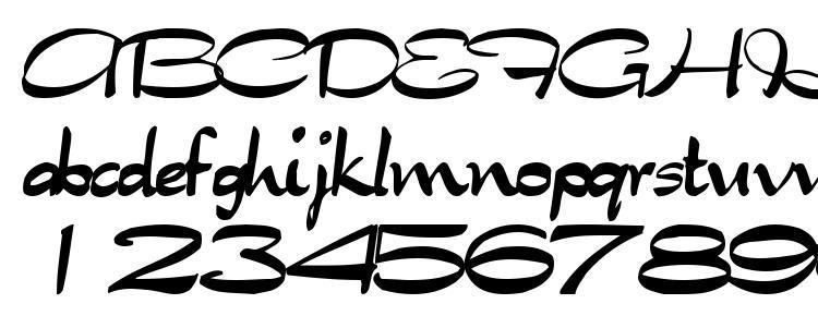 глифы шрифта Tabitha regular, символы шрифта Tabitha regular, символьная карта шрифта Tabitha regular, предварительный просмотр шрифта Tabitha regular, алфавит шрифта Tabitha regular, шрифт Tabitha regular