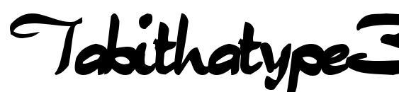 Tabithatype32 bold Font