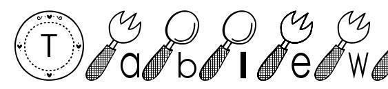 Tableware font Font