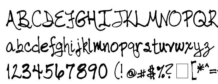 глифы шрифта tabor handwriting, символы шрифта tabor handwriting, символьная карта шрифта tabor handwriting, предварительный просмотр шрифта tabor handwriting, алфавит шрифта tabor handwriting, шрифт tabor handwriting