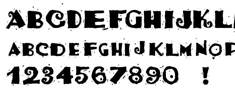 glyphs Taco Salad font, сharacters Taco Salad font, symbols Taco Salad font, character map Taco Salad font, preview Taco Salad font, abc Taco Salad font, Taco Salad font