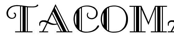 TACOMA Regular font, free TACOMA Regular font, preview TACOMA Regular font