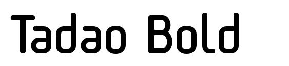 шрифт Tadao Bold, бесплатный шрифт Tadao Bold, предварительный просмотр шрифта Tadao Bold