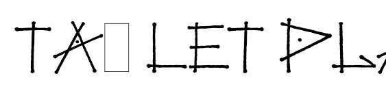 Tag LET Plain.1.0 Font