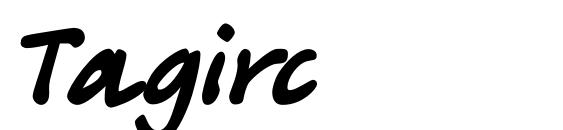 шрифт Tagirc, бесплатный шрифт Tagirc, предварительный просмотр шрифта Tagirc