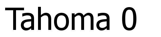Tahoma 0 Font