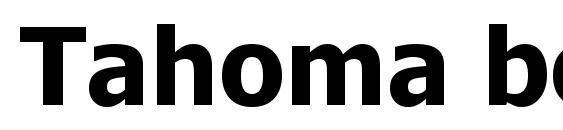 Tahoma bold Font