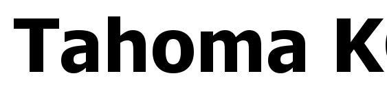 Tahoma KOI8 Bold Font