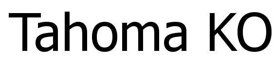 Tahoma KOI8 Font