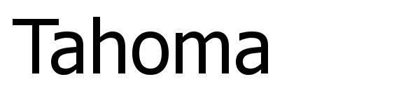 Шрифт Tahoma