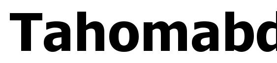 Tahomabd font, free Tahomabd font, preview Tahomabd font