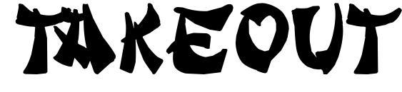 шрифт Takeout, бесплатный шрифт Takeout, предварительный просмотр шрифта Takeout