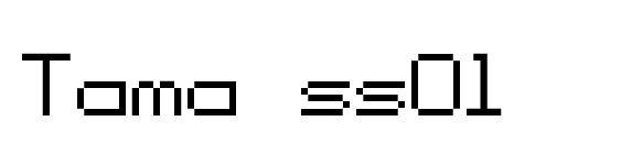 Шрифт Tama ss01