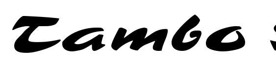 Шрифт Tambo Script MF
