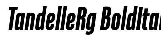 TandelleRg BoldItalic Font
