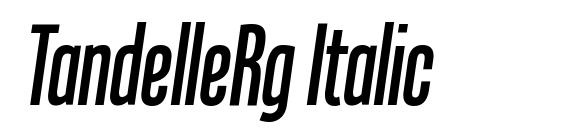 TandelleRg Italic Font