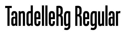 TandelleRg Regular Font
