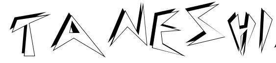 Шрифт TANESHIA Regular