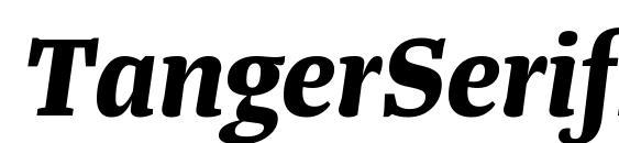 шрифт TangerSerifMedium BoldItalic, бесплатный шрифт TangerSerifMedium BoldItalic, предварительный просмотр шрифта TangerSerifMedium BoldItalic