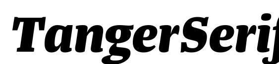 Шрифт TangerSerifMedium ExtraBoldItalic
