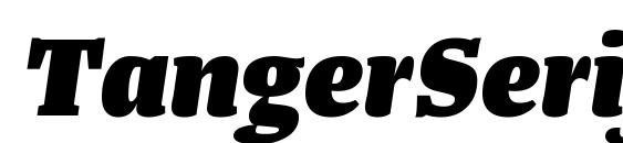 Шрифт TangerSerifMedium HeavyItalic