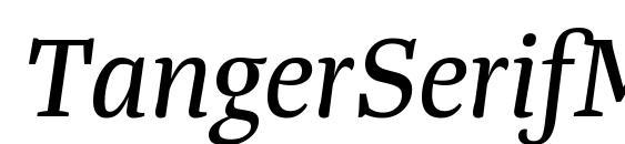 Шрифт TangerSerifMedium Italic