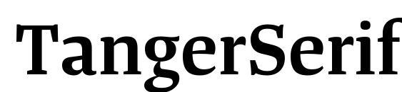 Шрифт TangerSerifMedium SemiBold
