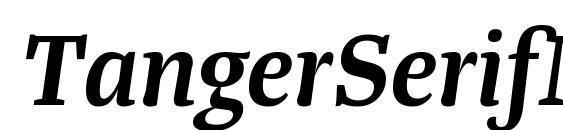 Шрифт TangerSerifMedium SemiBoldItalic