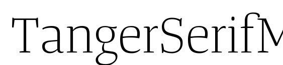 Шрифт TangerSerifMediumUl Light