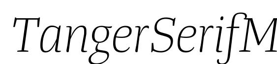 TangerSerifMediumUl LightItalic font, free TangerSerifMediumUl LightItalic font, preview TangerSerifMediumUl LightItalic font