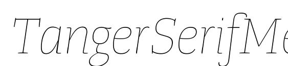 TangerSerifMediumUl UltraLightItalic Font