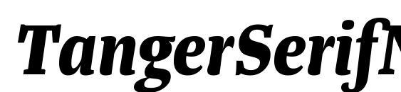 Шрифт TangerSerifNarrow BoldItalic