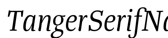 Шрифт TangerSerifNarrow BookItalic