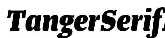 Шрифт TangerSerifNarrow ExtraBoldItalic