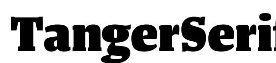 Шрифт TangerSerifNarrow Heavy