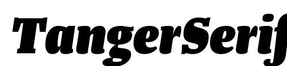 Шрифт TangerSerifNarrow HeavyItalic