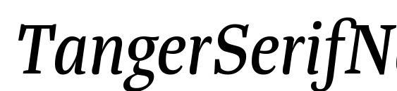 TangerSerifNarrow Italic Font