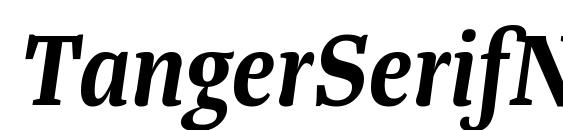 TangerSerifNarrow SemiBoldItalic Font