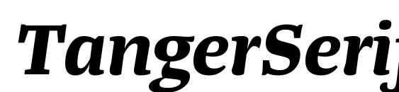 Шрифт TangerSerifWide BoldItalic