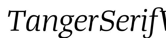 TangerSerifWide BookItalic Font