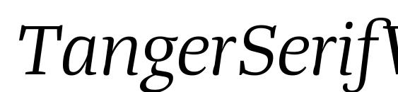 Шрифт TangerSerifWide BookItalic