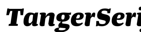 Шрифт TangerSerifWide ExtraBoldItalic