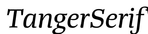 TangerSerifWide Italic Font