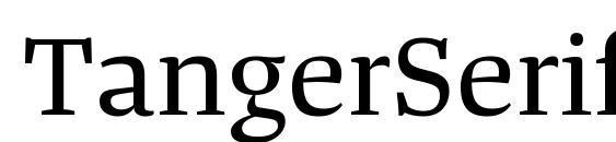TangerSerifWide Regular Font