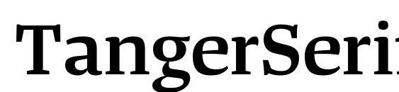 шрифт TangerSerifWide SemiBold, бесплатный шрифт TangerSerifWide SemiBold, предварительный просмотр шрифта TangerSerifWide SemiBold