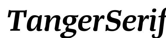 TangerSerifWide SemiBoldItalic Font