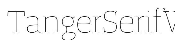 Шрифт TangerSerifWide UltraLight