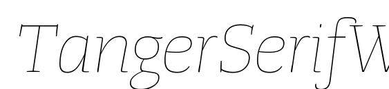 Шрифт TangerSerifWide UltraLightItalic