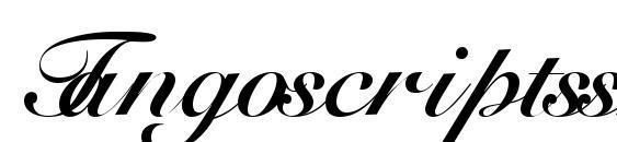 Шрифт Tangoscriptssk bold