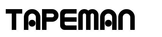 шрифт TAPEMAN, бесплатный шрифт TAPEMAN, предварительный просмотр шрифта TAPEMAN